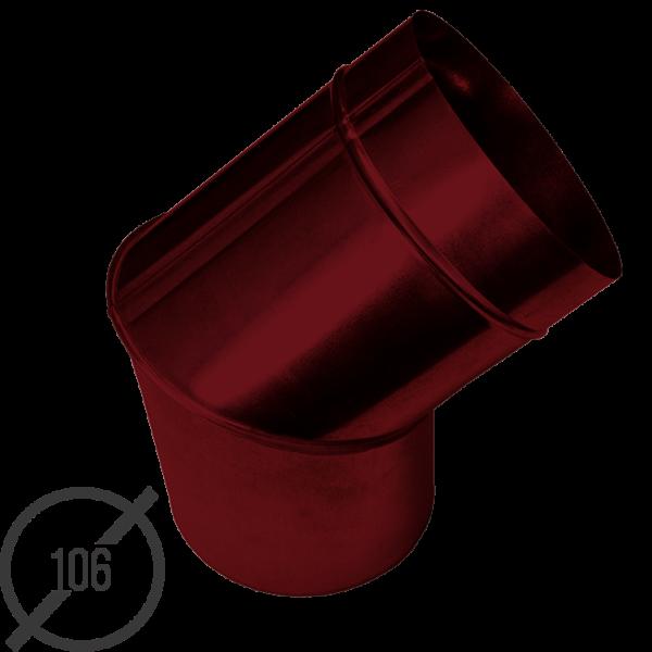 Колено трубы водосточной диаметр 106 мм рал 3005 стальное 05 мм от vsevodostoki ru