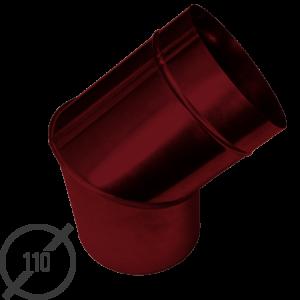 Колено трубы водосточной диаметр 110 мм рал 3005 стальное 05 мм от vsevodostoki ru