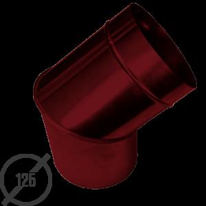 Колено трубы водосточной диаметр 125 мм рал 3005 стальное 05 мм от vsevodostoki ru