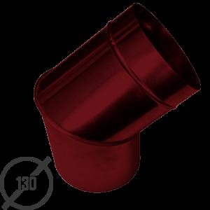 Колено трубы водосточной диаметр 130 мм рал 3005 стальное 05 мм от vsevodostoki ru