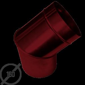 Колено трубы водосточной диаметр 160 мм рал 3005 стальное 05 мм от vsevodostoki ru