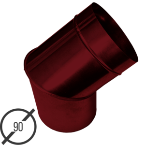 Колено трубы водосточной диаметр 90 мм рал 3005 стальное 05 мм от vsevodostoki ru