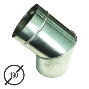 Колено трубы водосточной диаметр 190 мм оцинкованное стальное 0,5 мм от VseVodostoki.ru
