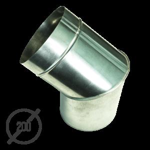 Колено трубы водосточной диаметр 200 мм оцинкованное стальное 0,5 мм от VseVodostoki.ru