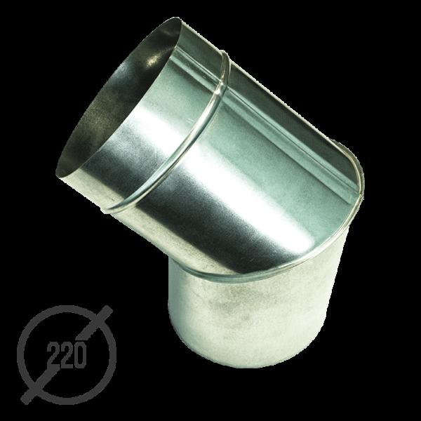 Колено трубы водосточной диаметр 220 мм оцинкованное стальное 0,5 мм от VseVodostoki.ru