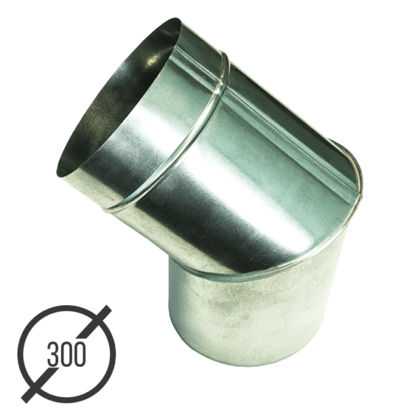 Колено трубы водосточной диаметр 300 мм оцинкованное стальное 0,5 мм от VseVodostoki.ru
