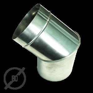 Колено трубы водосточной диаметр 80 мм оцинкованное стальное 0,5 мм от VseVodostoki.ru