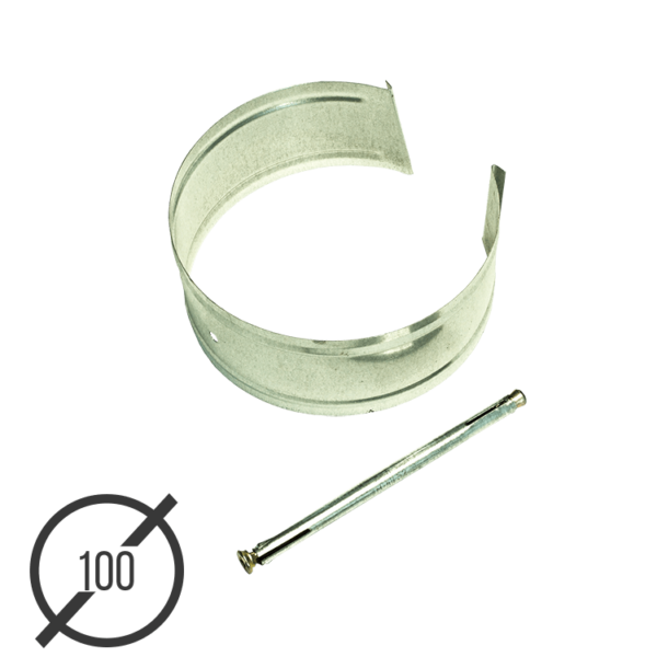 Крепление трубы с анкером диаметр 100 мм оцинкованное VseVodostoki