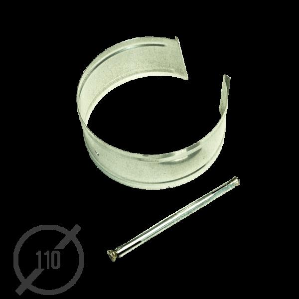 Крепление трубы с анкером диаметр 110мм оцинкованное VseVodostoki