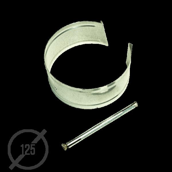 Крепление трубы с анкером диаметр 125мм оцинкованное VseVodostoki