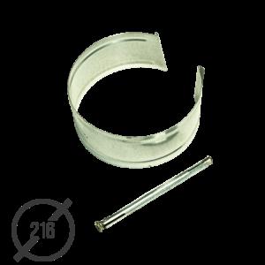 Крепление трубы с анкером диаметр 216мм оцинкованное VseVodostoki