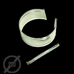 Крепление трубы с анкером диаметр 220мм оцинкованное VseVodostoki