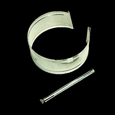 Крепление трубы с анкером оцинкованное стальное 0,5 мм от VseVodostoki.ru