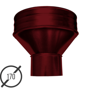 Круглая воронка водосборная диаметр 170 мм рал 3005 05 мм от vsevodostoki ru