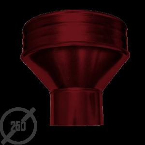 Круглая воронка водосборная диаметр 250 мм рал 3005 05 мм от vsevodostoki ru