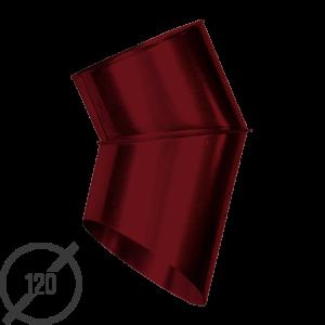 Отмет трубы (колено стока) водосточной диаметр 120 мм рал 3005 стальное 05 мм от vsevodostoki ru