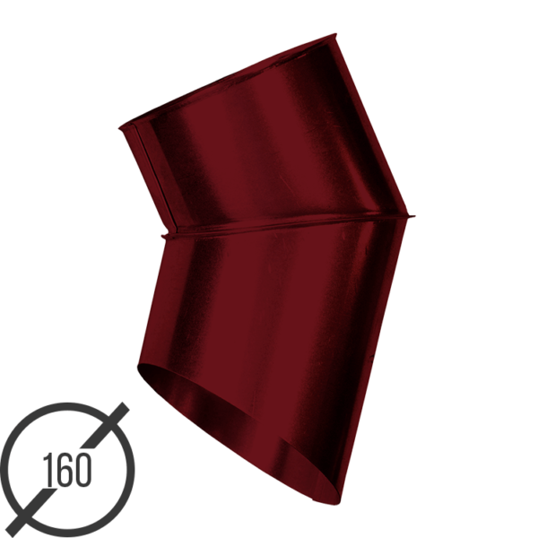 Отмет трубы (колено стока) водосточной диаметр 160 мм рал 3005 стальное 05 мм от vsevodostoki ru