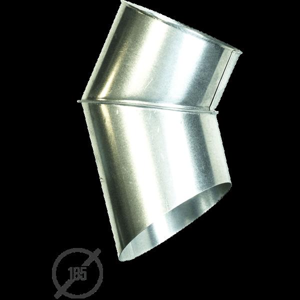 Отмет трубы (колено стока) водосточной диаметр 185 мм оцинкованный от Vsevodostoki.ru