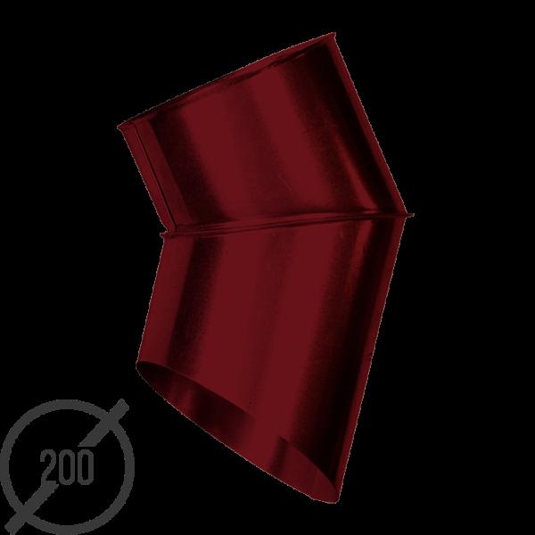 Отмет трубы (колено стока) водосточной диаметр 200 мм рал 3005 стальное 05 мм от vsevodostoki ru