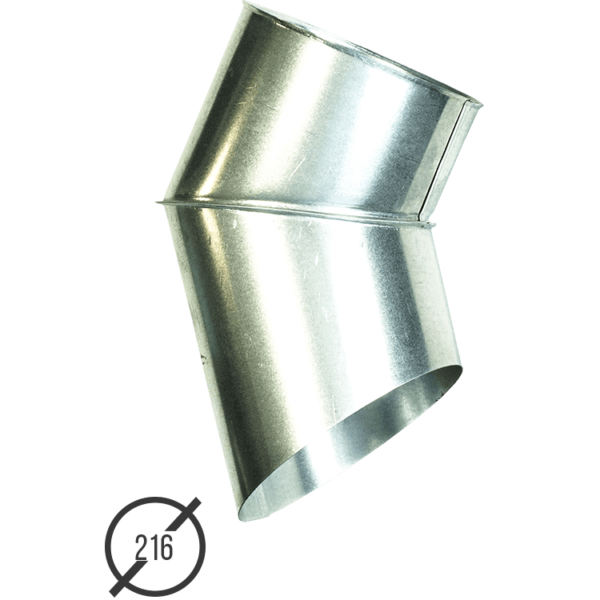 Отмет трубы (колено стока) водосточной диаметр 216 мм оцинкованный от Vsevodostoki.ru