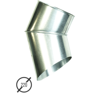 Отмет трубы (колено стока) водосточной диаметр 220 мм оцинкованный от Vsevodostoki.ru