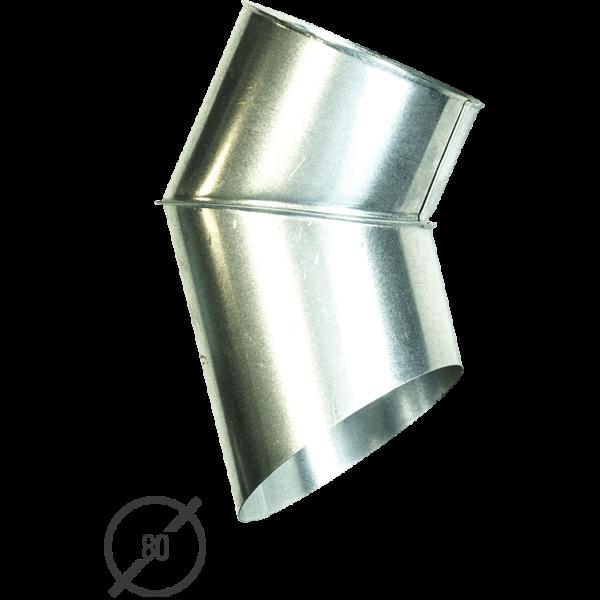 Отмет трубы (колено стока) водосточной диаметр 80 мм оцинкованный от Vsevodostoki.ru