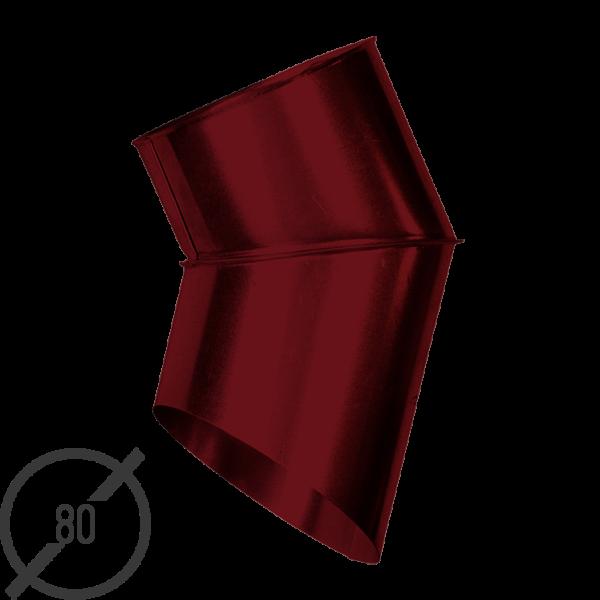 Отмет трубы (колено стока) водосточной диаметр 80 мм рал 3005 стальное 05 мм от vsevodostoki ru