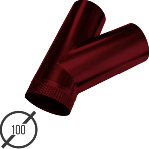 тройник трубы диаметр 100 мм рал 3005 стальной 05 мм от vsevodostoki-ru