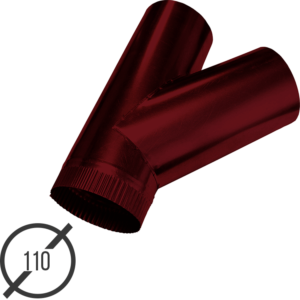 тройник трубы диаметр 110 мм рал 3005 стальной 05 мм от vsevodostoki-ru