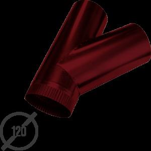 тройник трубы диаметр 120 мм рал 3005 стальной 05 мм от vsevodostoki-ru