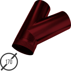 тройник трубы диаметр 170 мм рал 3005 стальной 05 мм от vsevodostoki-ru