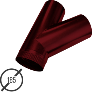 тройник трубы диаметр 185 мм рал 3005 стальной 05 мм от vsevodostoki-ru