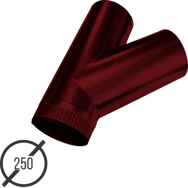 тройник трубы диаметр 250 мм рал 3005 стальной 05 мм от vsevodostoki-ru
