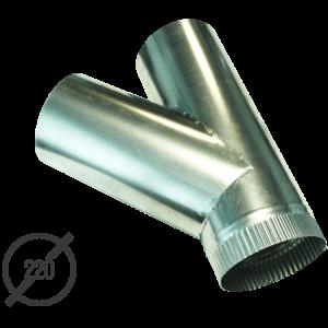 Тройник водосточной трубы оцинкованный диаметр 220 мм VseVodostoki