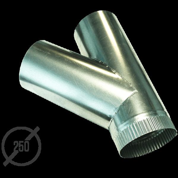 Тройник водосточной трубы оцинкованный диаметр 250 мм VseVodostoki