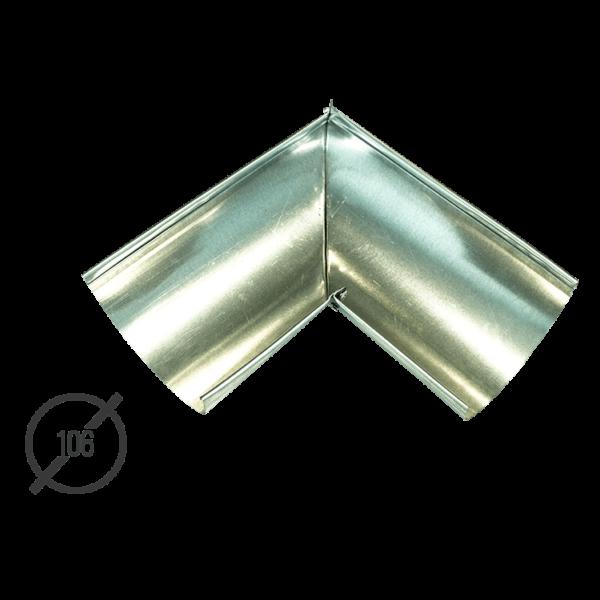 Угол желоба водосточной трубы оцинкованный диаметр 106мм Vsevodostoki.ru