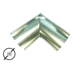 Угол желоба водосточной трубы оцинкованный диаметр 190мм Vsevodostoki.ru
