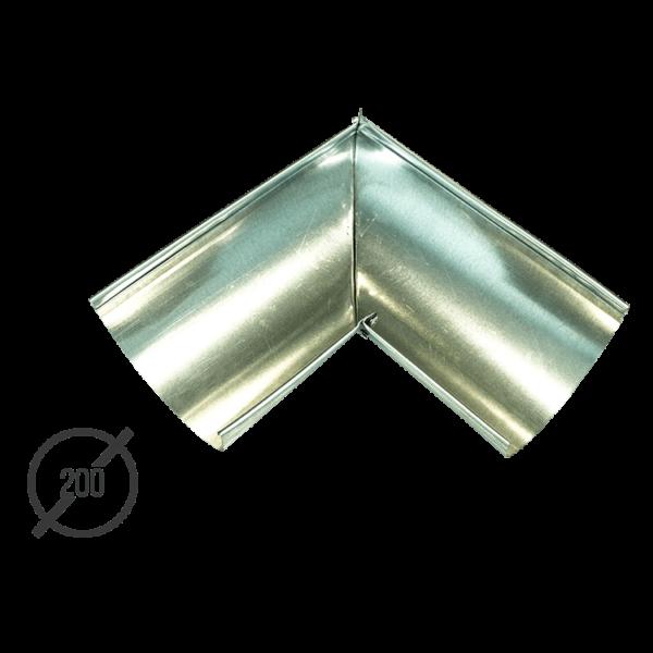 Угол желоба водосточной трубы оцинкованный диаметр 200мм Vsevodostoki.ru