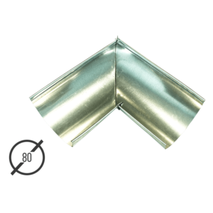 Угол желоба водосточной трубы оцинкованный диаметр 80мм Vsevodostoki.ru
