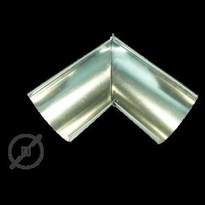 Угол желоба водосточной трубы оцинкованный диаметр 90мм Vsevodostoki.ru