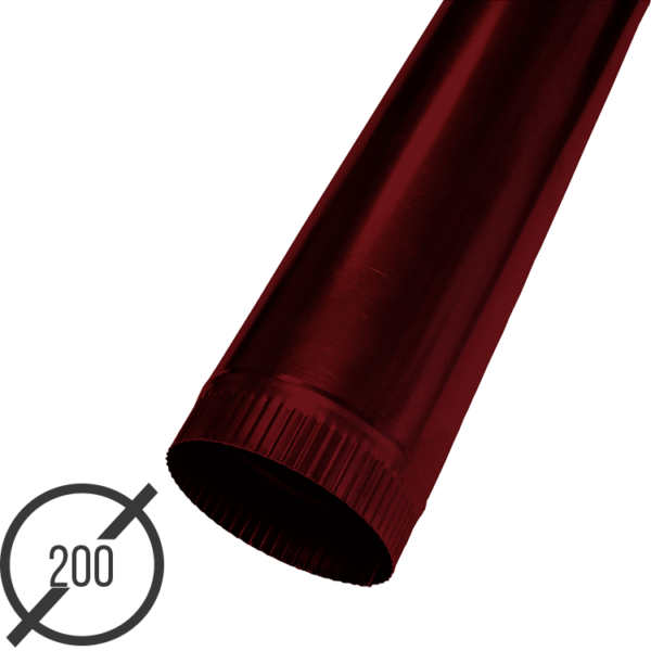 Водосточная труба диаметр 200 мм рал 3005 стальная 05 мм от vsevodostoki.ru
