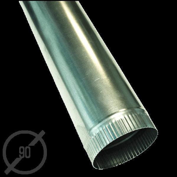 Водосточная труба диаметр 90 мм оцинкованная стальная 0,5мм от VseVodostoki.ru
