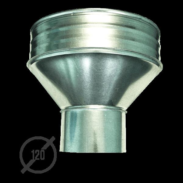 Воронка водосборная диаметр 120 мм оцинкованная стальная 0,5 мм от VseVodostoki.ru