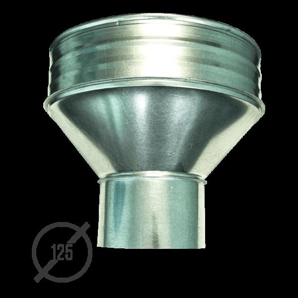 Воронка водосборная диаметр 125 мм оцинкованная стальная 0,5 мм от VseVodostoki.ru