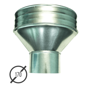 Воронка водосборная диаметр 170 мм оцинкованная стальная 0,5 мм от VseVodostoki.ru