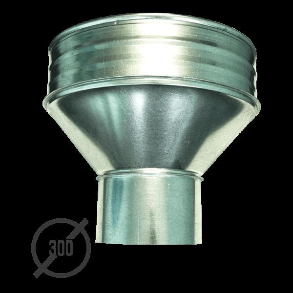 Воронка водосборная диаметр 300 мм оцинкованная стальная 0,5 мм от VseVodostoki.ru