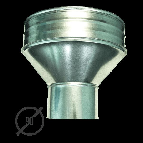 Воронка водосборная диаметр 90 мм оцинкованная стальная 0,5 мм от VseVodostoki.ru
