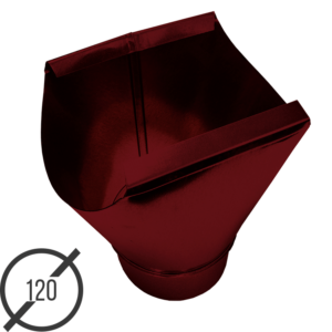 Воронка желоба диаметр 120 мм рал 3005 стальная 05 мм от vsevodostoki-ru