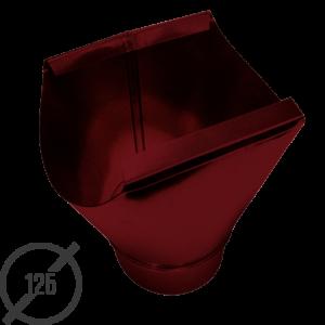 Воронка желоба диаметр 125 мм рал 3005 стальная 05 мм от vsevodostoki-ru