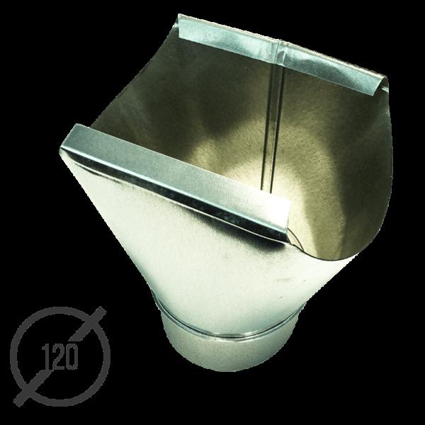 Воронка желоба оцинкованная диаметр 120 мм VseVodostoki.ru